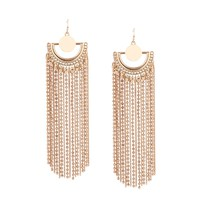 Drop It Tassel Earrings | Gold