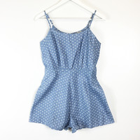 All Hearts Chambray Romper