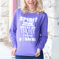Spirit Lead Me Long Sleeve Tee {H. Purple}