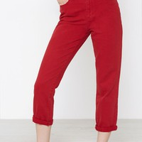 PacSun Bam Red Mom Jeans at PacSun.com