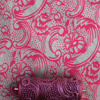 Patterned Paint Roller in Night Dahlia Design,by Not Wallpaper Patterned Paint Rollers