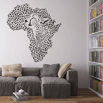 kik2889 Wall Decal Sticker Mainland Africa Cheetah character living room bedroom