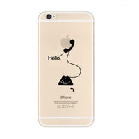Hello Telephone iPhone 6s 6 Plus Transparent Clear Soft Case