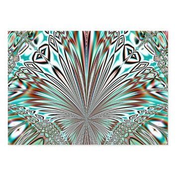 abstract crystal design large business card