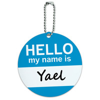 Yael Hello My Name Is Round ID Card Luggage Tag