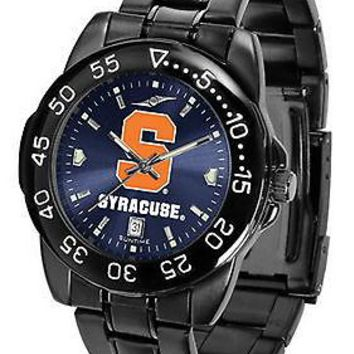 Syracuse Orangemen Mens Watch Fantom Gunmetal Anochrome Blue Dial