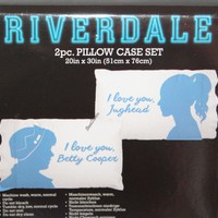 Licensed cool Riverdale High I Love You Jughead Betty Cooper Super Soft 2 Pack Pillowcase Set