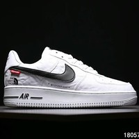 The North Face x Supreme x Nike Air Force 1 tripartite joint series sports shoes F-CSXY white
