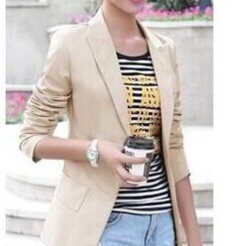 Womens Casual Trendy Lapel Blazer
