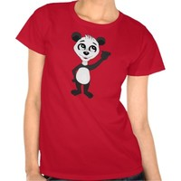Women's T-Shirt with panda bear cartoon