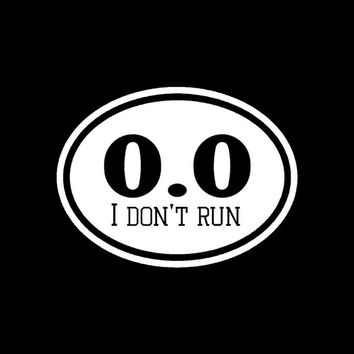 0.0 Parody marathon tranning runner euro oval vinyl Decal sticker car window / bumber funny graphics truck bike gym crossfit laptop