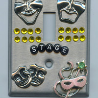 Theatre New York Broadway Stage Theme Light Switch Cover