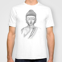 Shh... Do not disturb - buddha T-shirt for men and women in different colors by Vanya