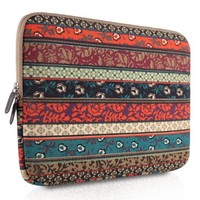 Plemo 14-Inch Bohemian Style Laptop Sleeve Case Bag for MacBook Air / Laptops / Notebook