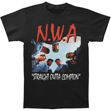 N.W.A. Men's  Straight Outta Compton T-shirt Black