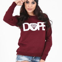 Wine Dope Sweater | Dope Sweaters For Women | OMG Fashion