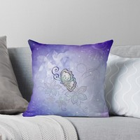 'Wonderful butterlies with flowers' Throw Pillow by nicky2342