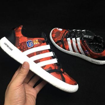 hcxx A308 Adidas Clima Cool Boat Lace Graphic WGM Boost Breathable Running Shoes Orange Red