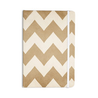 "Catherine McDonald ""Biscotti and Cream"" Chevron Everything Notebook"