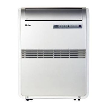 Haier HRB08XCMTB 8,000 BTU Portable Air Conditioner 115V with Remote, Silver, Factory-Reconditioned