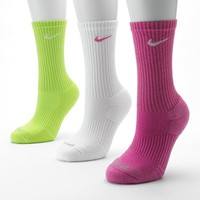 Nike 3-pk. Dri-FIT Cushioned Crew Socks, Size: One