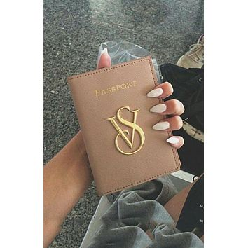Victoria's Secret Trending Stylish Passport Packages Documents Package Passport Holder Apricot I/A