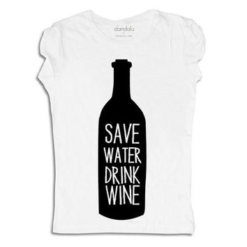 "T-Shirt ""Save Water Drink Wine"""