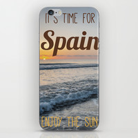 Time for spain iPhone & iPod Skin by Architect´s Eye | Society6