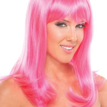 Hollywood Wig Hot Pink