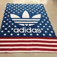 ADIDAS Leopard Print Flag Prints Conditioning Throw Blanket Quilt For Bedroom Living Rooms Sofa2