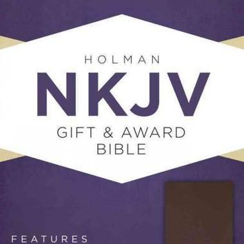 The Holy Bible: New King James Version, Brown, Imitation Leather, Gift & Award Bible