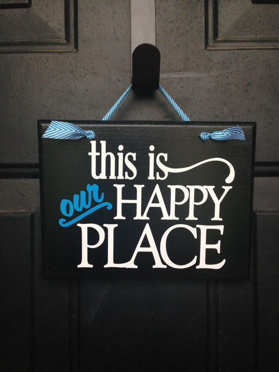 This Is Our Happy Place Door Sign From Lollypopscountry