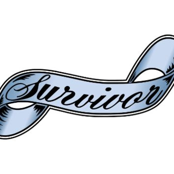 Survivor (blue) Pancreatic Cancer Support Tattoo Set