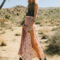 Coyote Split Maxi Skirt - Peach (12)