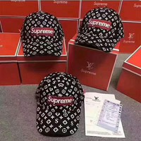 Supreme x LV embroidery Strap Cap Adjustable Golf Snapback Baseball Hat Cap H-AGG-CZDL