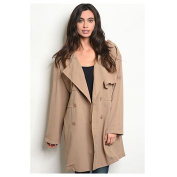 Simply a Must, Khaki Tan Peacoat Style Jacket