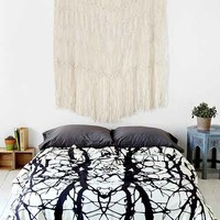 Holli Zollinger For DENY Tree Silhouette Duvet Cover- Black & White