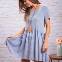 Classic Kawaii Tunic, Denim
