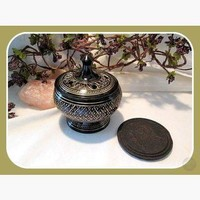 Black Engraved Incense Burner