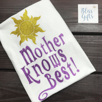 Mother Knows Best With Sun Rapunzel Shirt