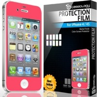Caseology Matte Color Screen Protector Compatible with iPhone 4 [All Versions] (Hot Pink):Amazon:Cell Phones & Accessories