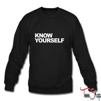 Know Yourself0 crewneck sweatshirt