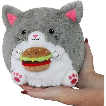 Squishable Mini Kitty Holding a Burger 7""