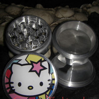 Hello Kitty Star 4 Piece Grinder Herb Spice Aircraft Grade Aluminum CNC from Cognitive Fashioned