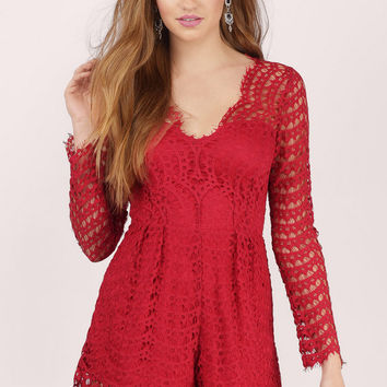 Anabelle Lace Scalloped Romper