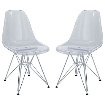 Clear Paris Set of Two Chairs