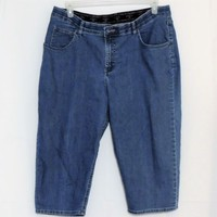 Riders by Lee Size 16w Denim Capri Crop Jeans