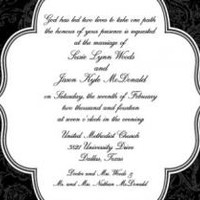 BLACK AND WHITE PARTY INVITATIONS BY ROSANNE BECK