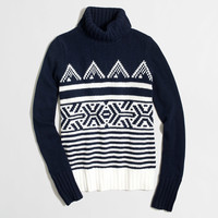 Factory graphic Fair Isle turtleneck sweater