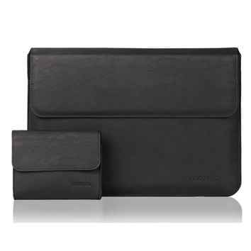 Mosiso for Macbook Pro Air 13 13.3 inch for Ipad Pro 12.9 PU Leather Sleeve Case Cover Black Brown